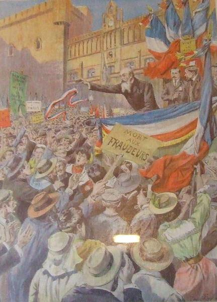 manifestation à Narbonne 1907