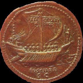 monnaie romaine bateau